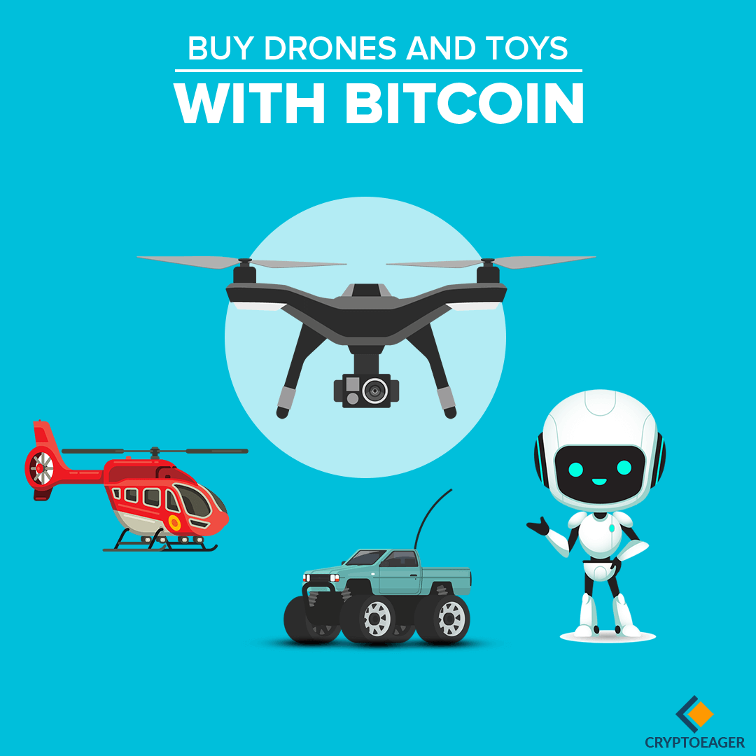 Trade Drones and Toys with Bitcoin